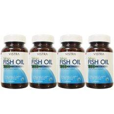 ราคา ราคาถูกที่สุด Vistra Salmon Fish Oil 1000Mg 75 เม็ด 4ขวด วิสทร้า น้ำมันปลาแซลมอน 1000มก