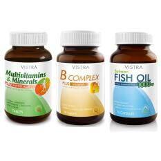 ขาย Vistra Set บำรุงสมอง Multivitamins 30เม็ด B Complex Plus Minerals 30 เม็ด Salmon Fish Oil 75เม็ด ผู้ค้าส่ง