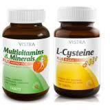 ราคา Vistra Set บำรุงสุขภาพและเส้นผม Multivitamins 30เม็ด L Cysteine 30 เม็ด Vistra กรุงเทพมหานคร