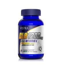 Vistra Sport Cla 1200mg Plus Vitamin E เร่งการเผาผลาญไขมัน 60 เม็ด.