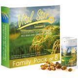 ซื้อ Vital Star Family Pack Of 8 น้ำมันรำข้าวและจมูกข้าว ไวทอลสตาร์ 8 X 60 แคปซูล Set 1 ชุด Vital Star ออนไลน์