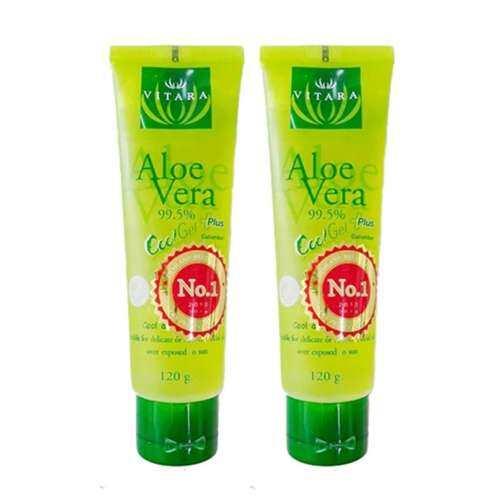 Vitara Aloe Vera 99.5% Plus Cucumber เจลว่านหางจรเข้+แตงกวา 120 gm. x 2 หลอด
