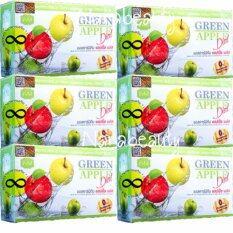 Vivi Krishy Boom Green Apple Diat บรรขุ 10 ซอง 6 กล่อง วีวี่ คริชชี่ บูม แอลคาร์นิทีน แอปเปิ้ล พลัส อาหารเสริมควบคุมน้ำหนัก เร่งการเผาผลาญ ผิวขาวกระจ่างใส เป็นต้นฉบับ