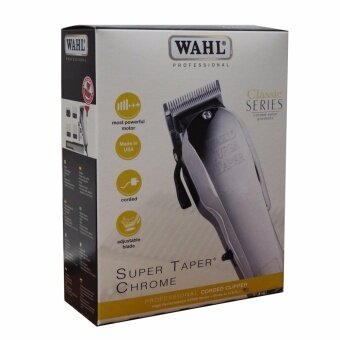 WAHL ปัตตาเลี่ยน รุ่น Super Taper Chrome - Silver