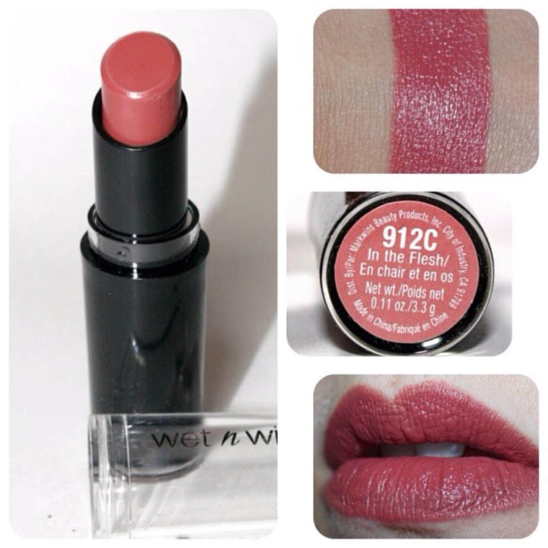ลิปสติก Wet n Wild Mega  Last Lip Color สี ( MLC912 In the Flesh)