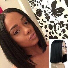 ซื้อ Women Short Straight Black Synthetic Hair Wigs Women S Fashion Syntheic Wig Intl