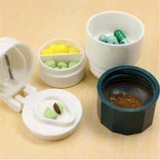 ส่วนลด Wow ที่บดเม็ดยา ที่ตัดเม็ดยา พร้อมช่องเก็บยา 2 ช่อง และถ้วยใส่น้ำเล็กๆ แบบพกพา คละสี Thailand