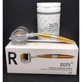 ZGTS Titanium Derma roller Sizes 0.25 mm เข็มกลิ้งรักษาหลุมสิว และ เพิ่มเรียบเนียน เดอมาโรลเลอร์  พร้อมยาชาพิเศษ 15 g และ ฟรี VitaminC 1 ขวด