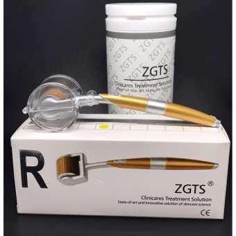 ZGTS Titanium Derma roller Sizes 2.5 mm เข็มกลิ้งรักษาหลุมสิว และ เพิ่มเรียบเนียน เดอมาโรลเลอร์ พร้อมยาชาพิเศษ 15 g และ ฟรี VitaminC 1 ขวด