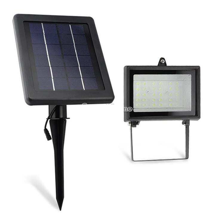 Jaynika Ultra Bright Solar 30 LED Outdoor Garden Spot Flood Light Lawn Lamp Waterproof - Black