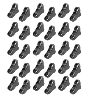 30Pcs Camping Tent Awning Rope Fastener Adjuster Non-Slip Wind Rope Buckles Triple-Cornered Cord Tightener Stopper Adjuster Tool thumbnail