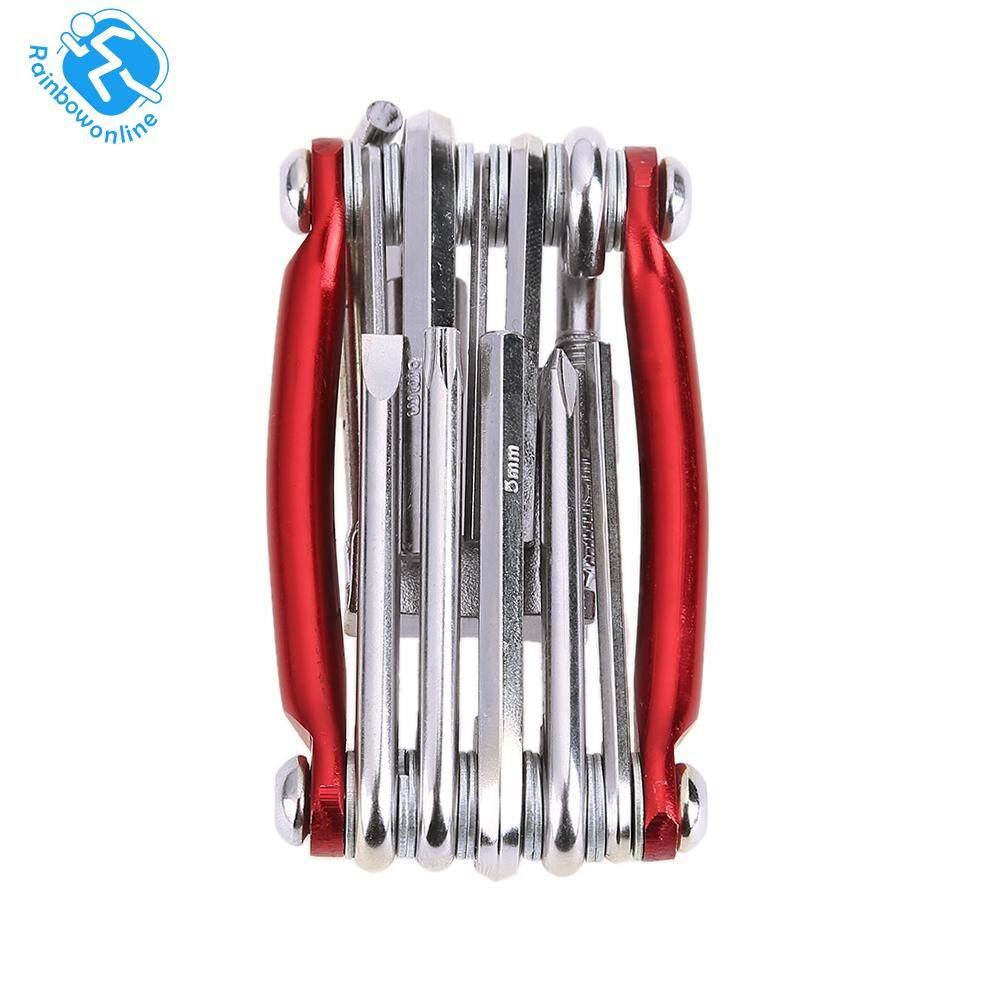(Order 3 Item Above Enjoy Free Shipping)11in1 Bicycle Repairing Set Bike Repair Tool Kit Wrench Screwdriver Chain (Red) (Red)