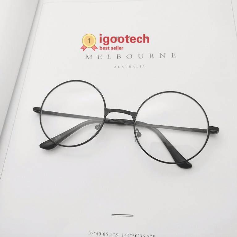 Igootech Fashion Glasses แว่นตากรองแสง แว่นกรองแสง ทรงกลม Black (กรองแสงคอม กรองแสงมือถือ ถนอมสายตา) By Igootech.