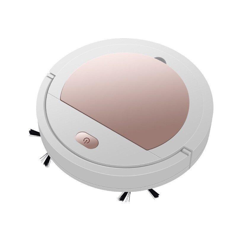 เครื่องดูดฝุ่นอัตโนมัติ หุ่นยนต์ดูดฝุ่น เครื่องทำความสะอาดอัจฉริยะ 2in1 มีแบตในตัว Robot Vacuum Cleaner smart robot