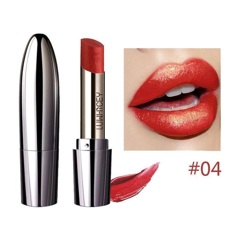 LUWHICEY ลิปสติก เมอร์เมด ชิมเมอร์ ลิปสติกกริตเตอร์ ลิปสติกกันน้ำ ติดทนนาน มีหลากสีหลายสไตล์ให้เลือก LUWHICEY Professional Lips Makeup Waterproof Long Lasting Mermaid Shimmer Lipstick Glitter Lip stick Lips Batom Luxury Makeup