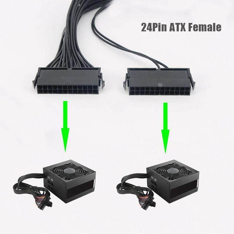 24PIN 20+4 Dual PSU Multiple Power Supply Splitter Adapter Brand New