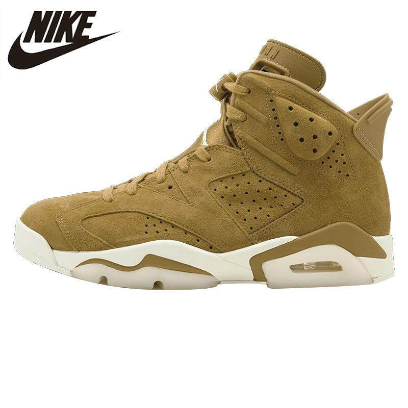 3b0309bc9182f _Nike _Air _Jordan 6 Men's Basketball Shoes Sneakers Sports Shoes High  Suede Wheat Color 2019 new