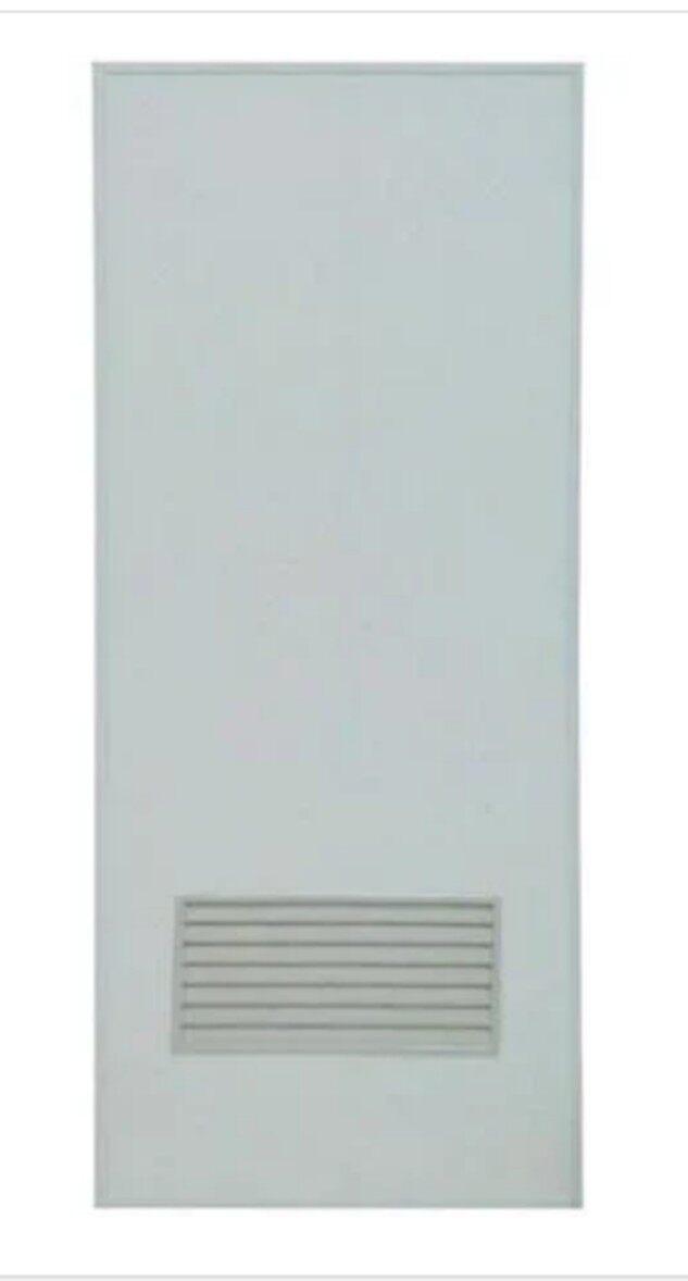 ชุดประตูห้องน้ำPVC ASIA เกล็ดล่าง 70X180 ซม. สีครีม ไม่เจาะ พร้อมวงกบ