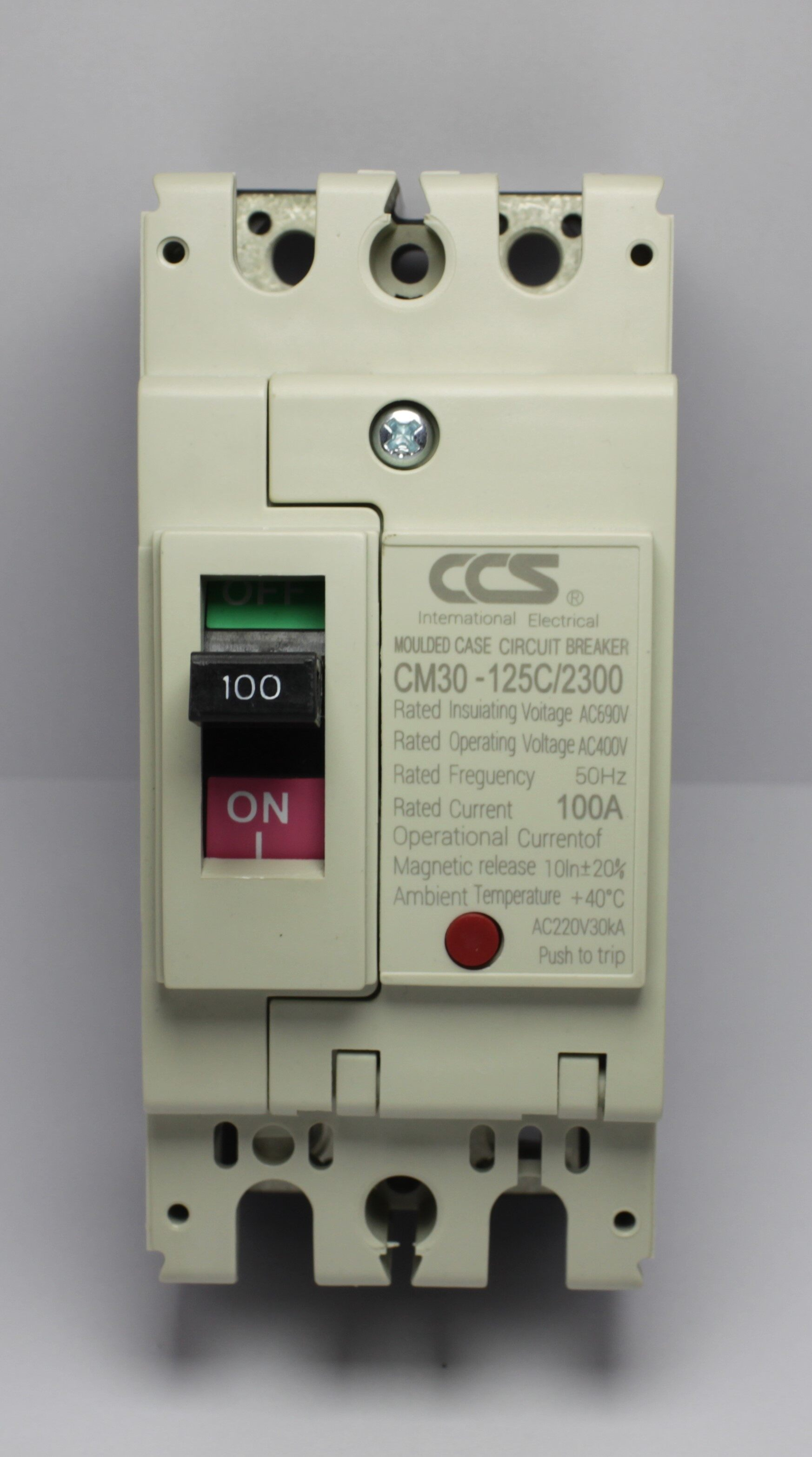 เมนเบรกเกอร์ Ccs โนฟิวเบรกเกอร์ Cm30-125cw 2p แบรนด์ Ccs.