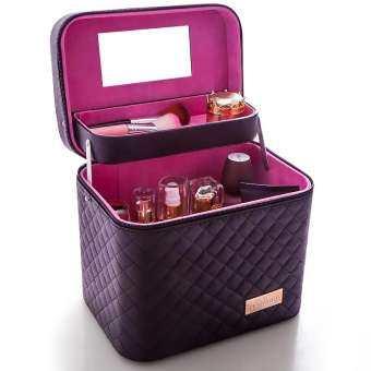 กล่องเก็บเครื่องสำอางสำหรับพกพา สวยหรู Cosmetic Box มี 4 สีให้เลือก กระเป๋าเดินทาง กระเป๋าผู้หญิงกระเป๋าแฟชั่น-