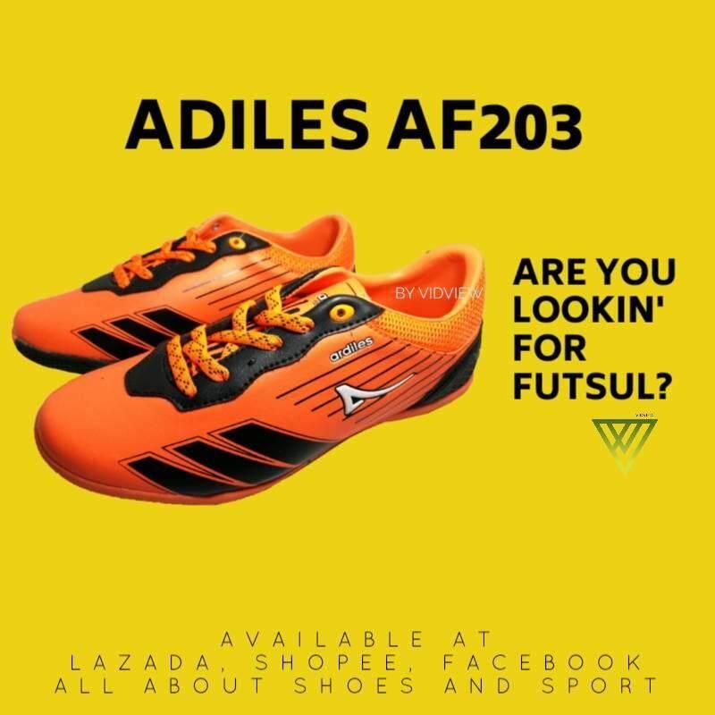 !!SALE!! รองเท้าฟุตซอล ตีแบ๊ต Adiles รุ่น AF203 สีน้ำเงิน, สีแดง, สีส้ม เบอร์ 38-43