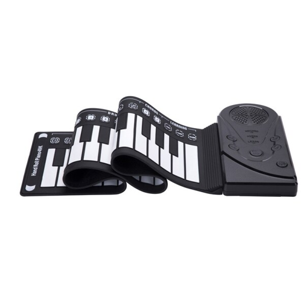 49 Keys Digital Keyboard Piano Portable Flexible Silicone Electronic Roll Up Piano Children Toys Built-in Speaker