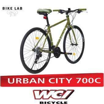 WCI จักรยานไฮบริดจ์ ขนาด 700C รุ่น URBAN CITY (สีเขียว)-