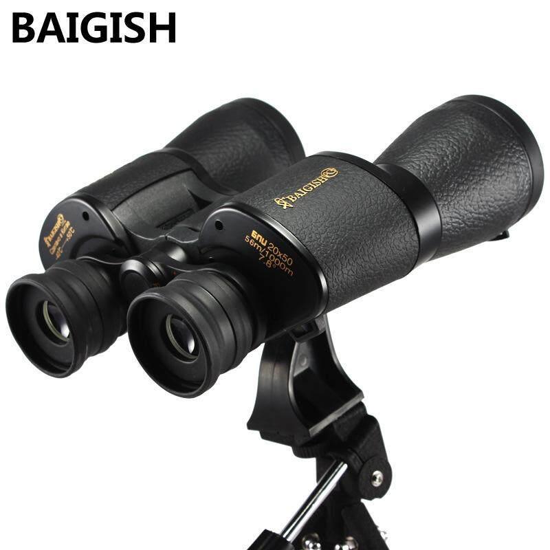 กล้องความละเอียดสูงความละเอียดสูง 20x50 ทหารสองมาตรฐานบาร์เรลตอนกลางคืนแสงน้อยวิสัยทัศน์แว่นตา เย็บปักถักร้อย By Ying2016.