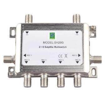 Mastersat Multi Switch 2x6  สำหรับเพิ่มจุดดู เครื่องรับดาวเทียม จานดาวเทียม ตัวแยกดาวเทียม ระบบจาน C หรือ จาน Ku band  2-6 จุด โดยใช้กับจานดาวเทียม 1 ใบ