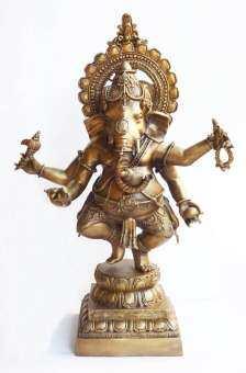 พระพิฆเนศ ปาง พระรีนาโมจัน คณปติ (Runamochana Ganapati) คือ ปางแก้กรรม และขจัดหนี้สิน องค์สูงใหญ่ ขนาดตั้งบูชา-