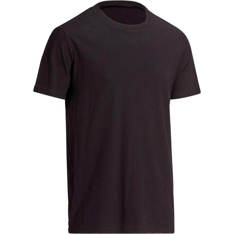 เสื้อยืดทรงมาตรฐานสำหรับกายบริหารที่เน้นการยืดเส้นทั่วไปรุ่น 100 Sportee (สีดำ) By Thirty Oneshop.