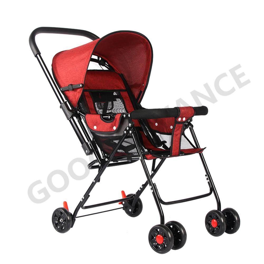 รถเข็นเด็ก ปรับได้ 3 ระดับ(นั่ง/เอน/นอน)   เข็นหน้า-หลังได้ ใช้ได้ตั้งแต่แรกเกิด