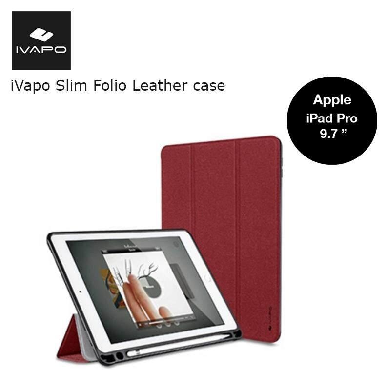 purchase cheap 2f05d f2894 iVapo Slim Folio Leather case เคสไอแพตฝาพับ ใส่ปากกาได้ ของแท้ สำหรับ APPLE  ...