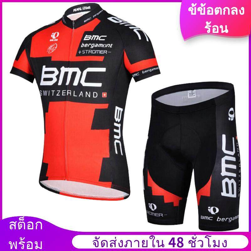 Mans Cycling Jersey Short Sleeve Suit Mountain Bike Clothing Riding Apparel And Equipment (red) (intl) - Intl By One Step One Footprint.