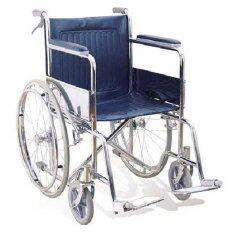 ราคา Triple รถเข็นผู้ป่วยพับได้ชุบโครเมี่ยม ล้อ 24 นิ้ว มีเบรคมือ สีน้ำเงิน รุ่น Ca905H Triple กรุงเทพมหานคร