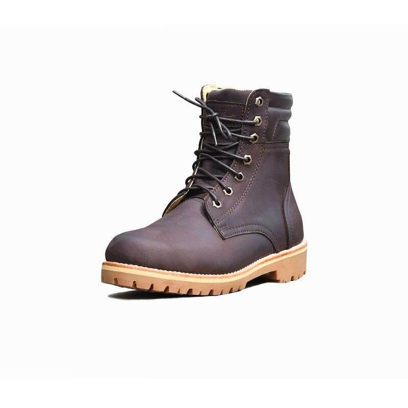 Steppro รองเท้าหนังแท้ บูท หุ้มข้อ ผู้ชาย หนังนูบัคออยล์ พื้นยางแท้กันลื่นระดับ ดีเยี่ยม Boots Code 915.