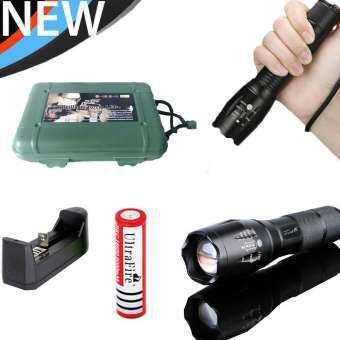 Alitech CREE XML T6 LED Zoomable Flashlight Torch 5 Modes ไฟฉาย แรงสูง ซูมได้ แถมอุปกรณ์ครบชุด พร้อมถ่านชาร์จ (Box Set)