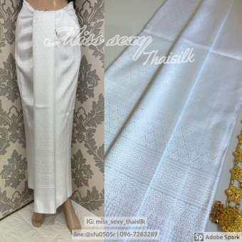 b016 (แพคสินค้าใน 1 วัน) ผ้าไทย ผ้าไหมแพรวา ผ้าไหมสังเคราะห์  ผ้าไหม ผ้าไหมทอลาย ผ้าถุง ผ้าซิ่น ของรับไหว้  ของฝาก ของขวัญ ผ้าตัดชุด ***ผ้าเป็นผ้าผืนยังไม่ตัดเย็บนะคะ** ขนาดผ้า 100*180 cm 2 หลา