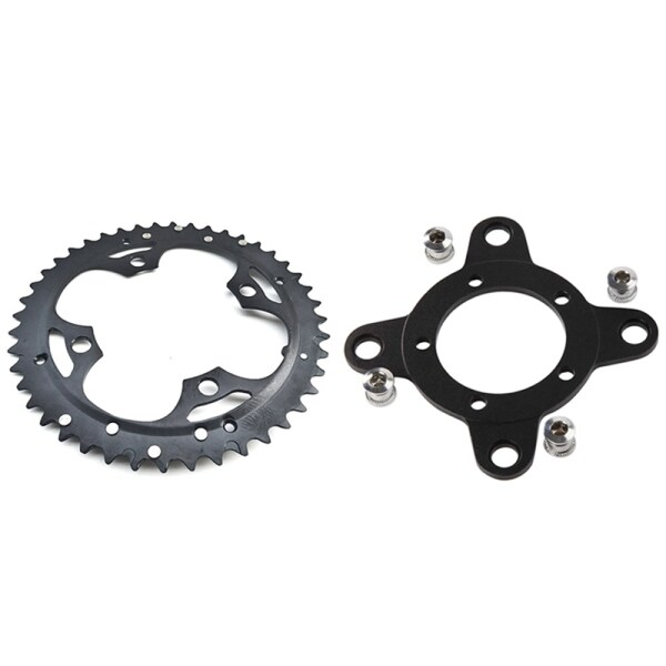 Mua 1 Pcs 44T Chainring 9 Speed Crank Carbon Replacement Chain Ring & 1 Pcs Electric Bicycle 104 BCD Chainring Adapter