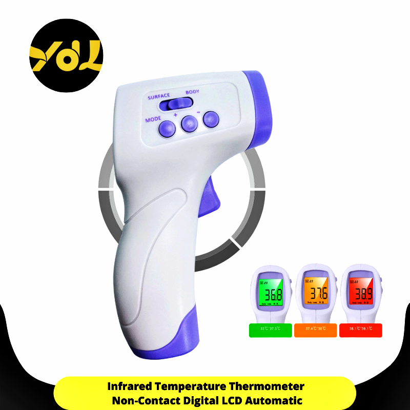 เครื่องวัดไข้ดิจิตอล แบบอินฟราเรด ที่วัดไข้ Infrared Thermometer เครื่องวัดไข้แบบดิจิตอล แบบปืนยิง (พร้อมส่ง)