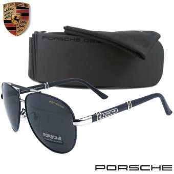 Polarized แว่นกันแดด แฟชั่น รุ่น PORSCHE UV 8560 แว่นตา ทรงสปอร์ต วัสดุ Stainless(เลนส์โพลาไรซ์)ขาข้อต่อ-
