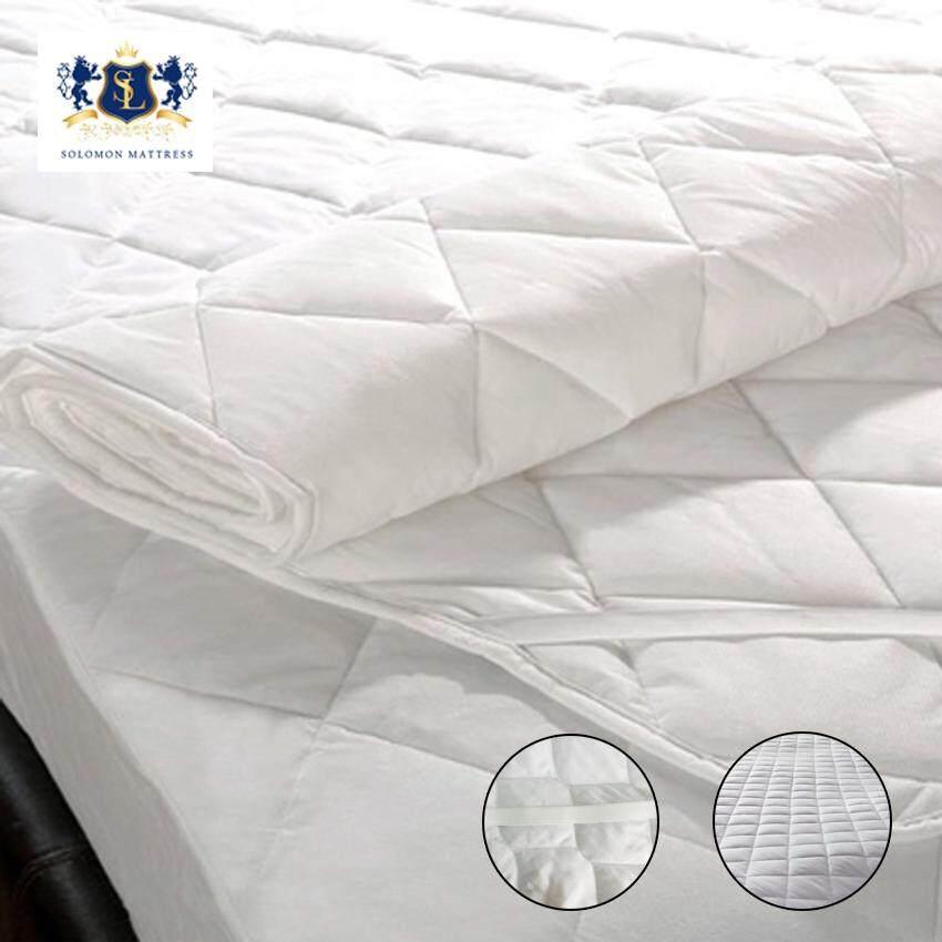Solomon ผ้ารองกันเปื้อนเกรดโรงแรม ป้องกันไรฝุ่น ขนาด 3.5ฟุต (สีขาว) By Wing-Infurniture.