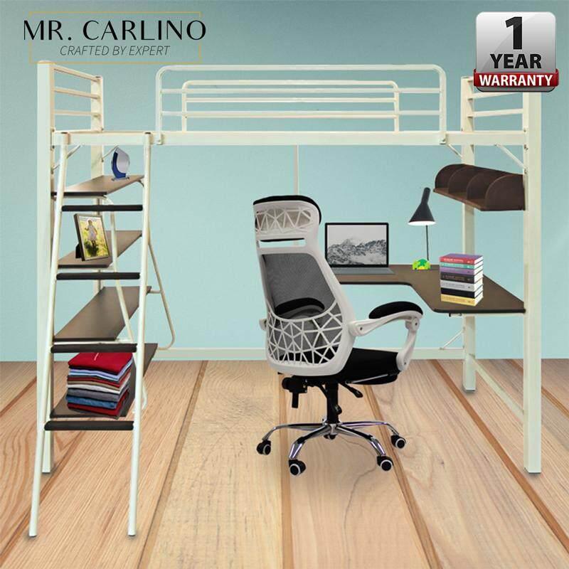 Mr.carlino : เตียง โครงเตียง ชั้นลอย มีชั้น2 เตียง โต๊ะ ชั้นวางของ คุณภาพดี (aloha Loft Bed Frame) By Carlino Design.