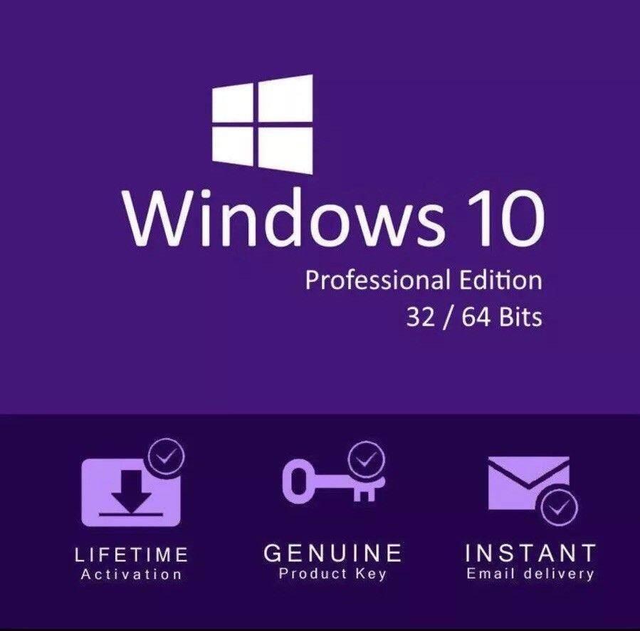 Windows 10 Pro 32bit/64bit คีย์แท้ ใช้งานได้ตลอดอายุ [สำหรับ 1pc] By Gcodeonline