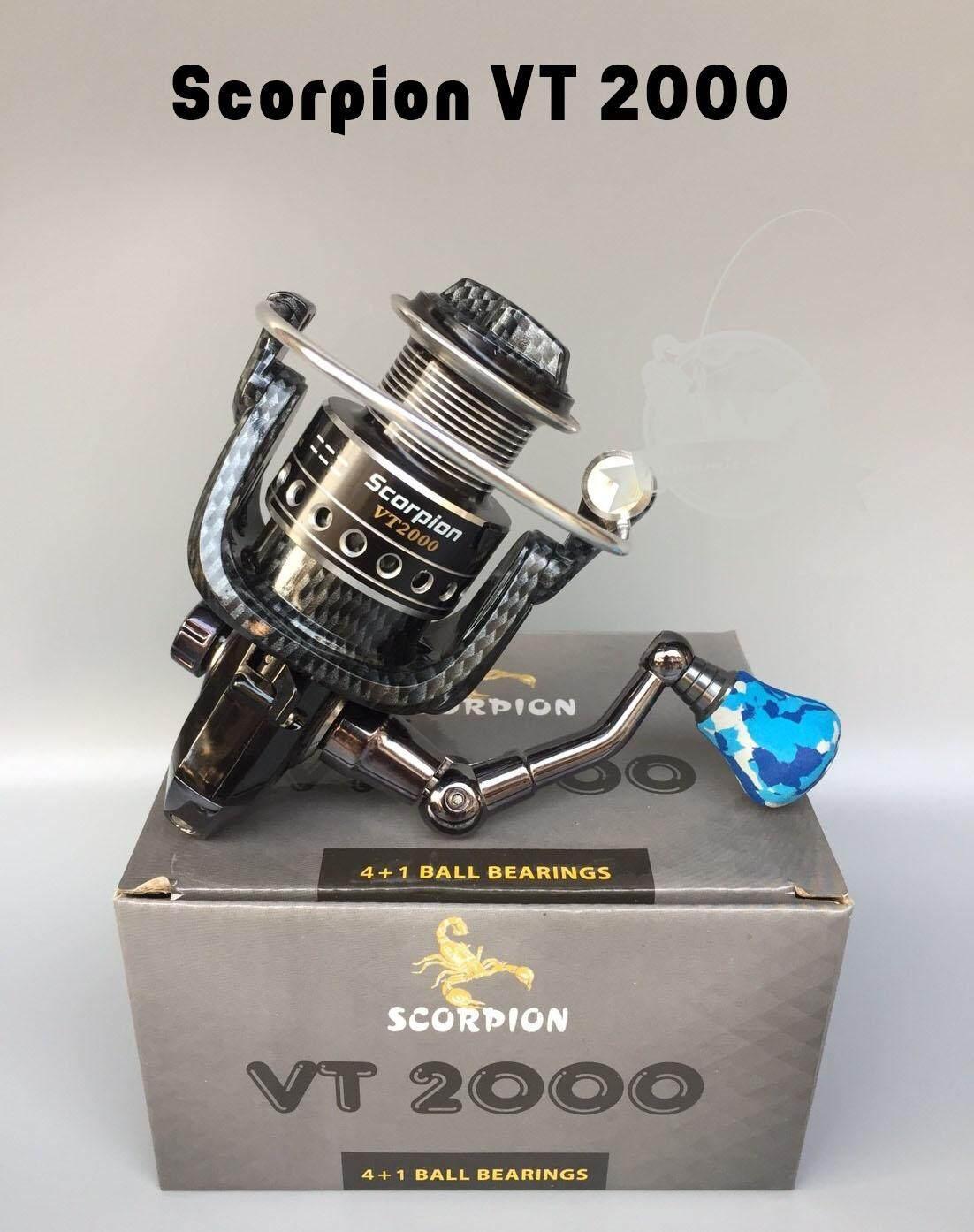 รอกสปินนิ่ง Scorpion Vt2000/3000/4000/5000 (ลายแคปล่า).