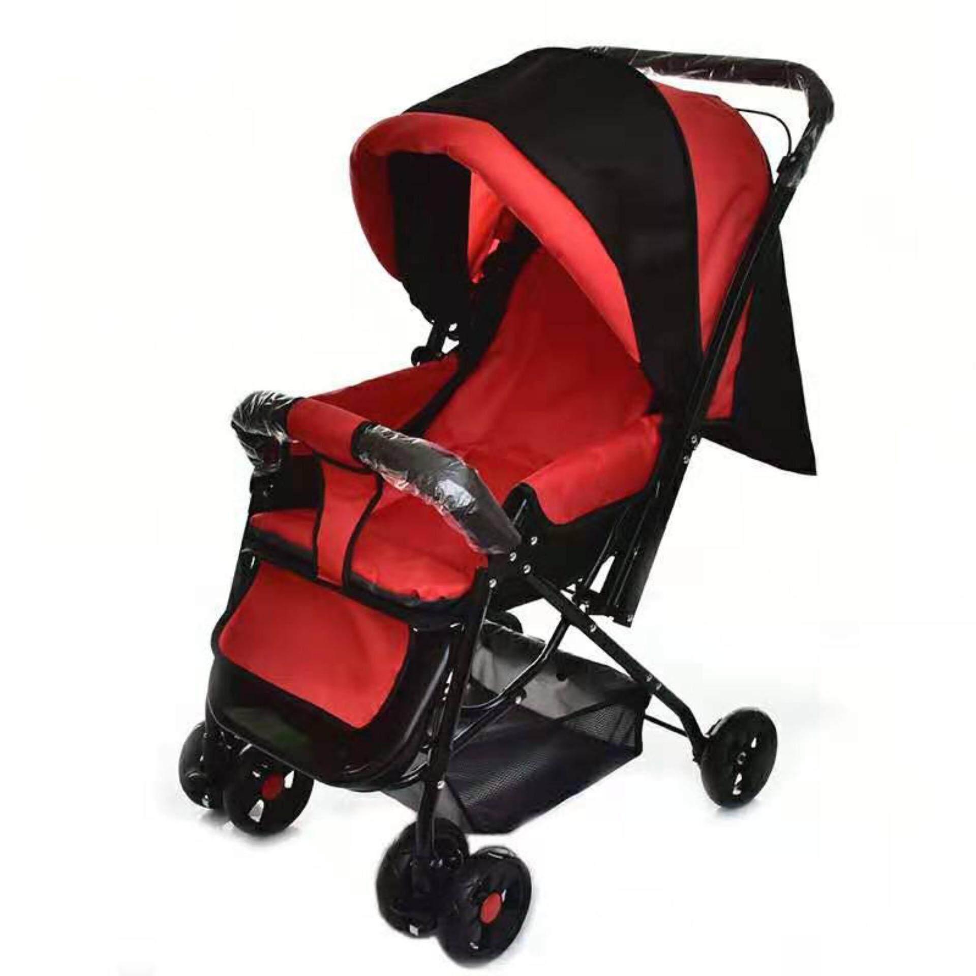 รถเข็นเด็ก ปรับได้ 3 ระดับ น้ำหนักเบา รองรับหนัก (นั่ง/เอน/นอน) เข็นได้ทั้งหน้า-หลัง ( ใช้ได้ตั้งแต่แรกเกิด ) รุ่น T9701 #
