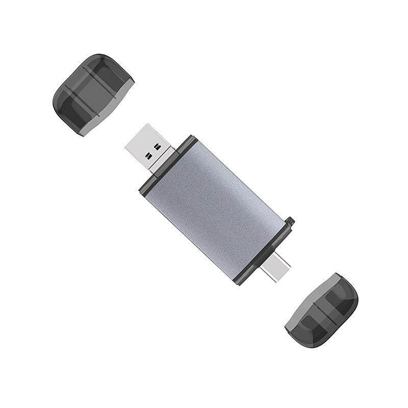 Bảng giá USB Type-C Micro-USB 3 in 1 Metal Card Reader SD/TF U-Disk Card Reader Multi Memory OTG Card Reader for Sumasang Huawei Xiaomi Phong Vũ