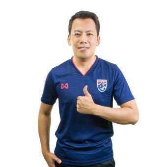 เสื้อเชียร์ทีมชาติไทย 2019 WARRIX สีกรมท่า WA-19FT53M-DD-