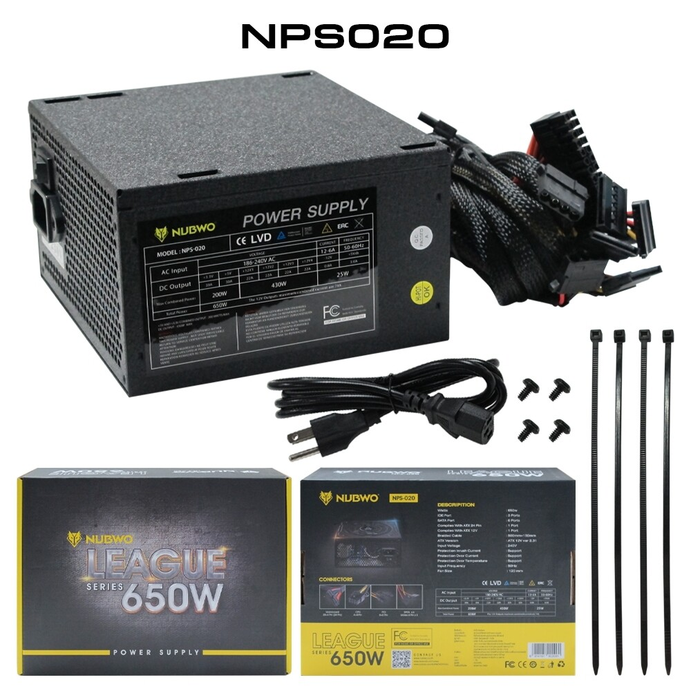 Power Supply Nubwo 650w Nps020.