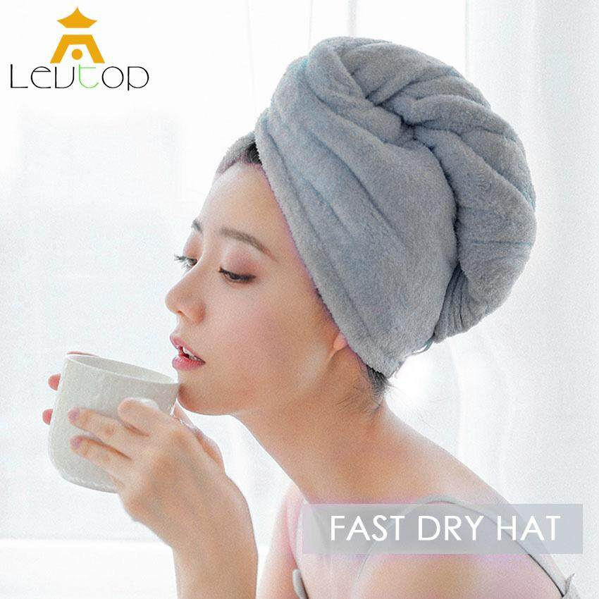 Colorful Cotton Shower Hair Drying Wrap Towel Quick Dry Hair Hat Cap Turban PF